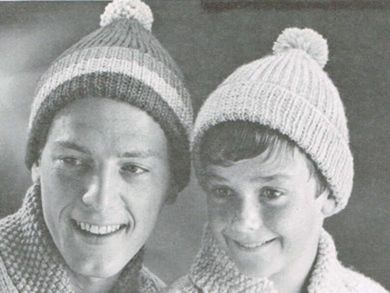 05d9c0e1b Vintage knitting pattern - Toques for adults and children - 60's knitting  pattern - girls boys men women ladies hat - PDF Download