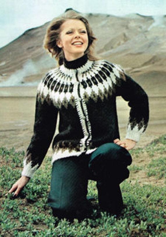 Vintage Icelandic Knitting Patterns For Women Or Men Etsy