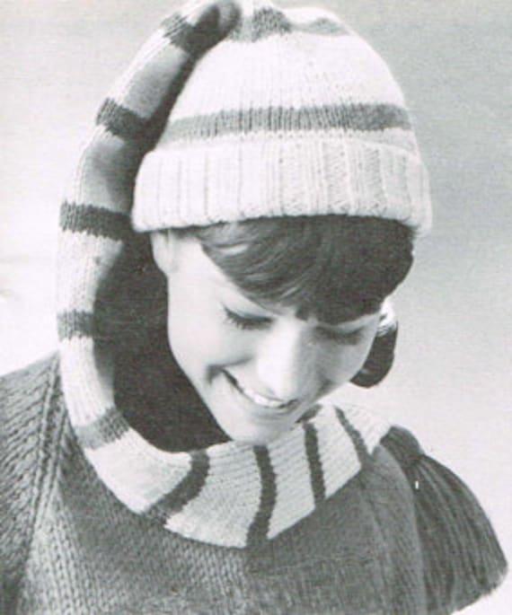 Vintage Knitting Pattern Long Stocking Cap Pdf Knitting Etsy