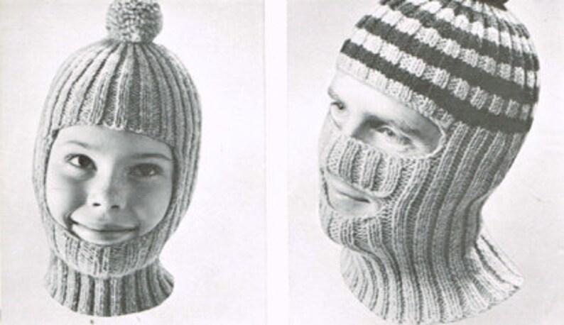 366555574 Vintage knitting pattern - Ribbed Helmet - PDF knitting pattern - Knitting  patterns for women - retro 60's