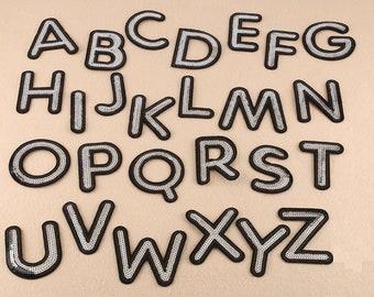 LETTERE dell/'Alfabeto Ricamato ferro su BADGE Sew sul PATCH SNOOPY A-Z Applique