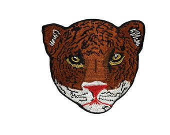 Tiger Head Embroidered Applique Patch,Vintage Wolf Patch for Clothing or  Dress,Decorative Embroidery