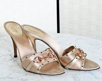 1ef03c0dac9fd7 Gucci Heels- Champagne Strapless
