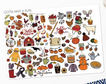 Planner Stickers Fall Is In The Air Deco for Erin Condren, Happy Planner, Filofax, Scrapbooking