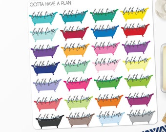 Planner Stickers Bubble Bath Time for Erin Condren, Happy Planner, Filofax, Scrapbooking