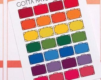 Planner Stickers Suitcase for Erin Condren, Happy Planner, Filofax, Scrapbooking