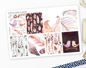 Planner Stickers Light As A Feather Full Box for Erin Condren, Happy Planner, Filofax, Scrapbooking