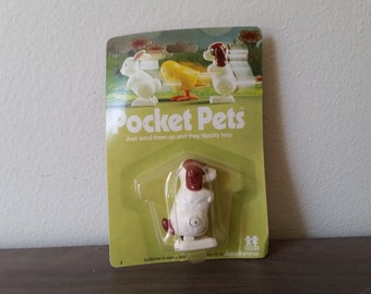 Pocket Pet Dog Vintage Wind Up Toy from the 70's by TOMY