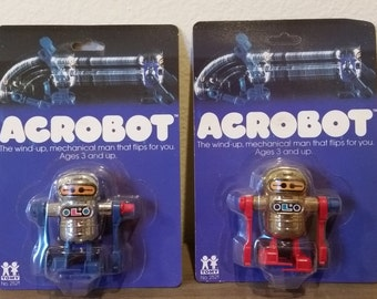 Acrobot Wind Up Robot by TOMY 1978 Gold or Silver