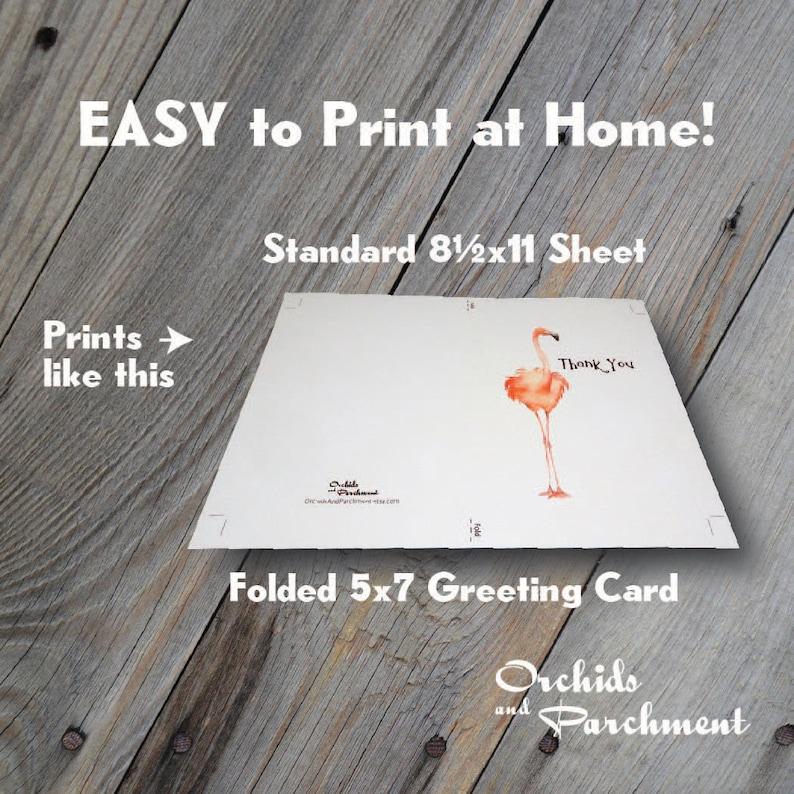 Blank Inside Sympathy Card Instant Download PDF Watercolor Splash Bird Flock Printable Greeting Card