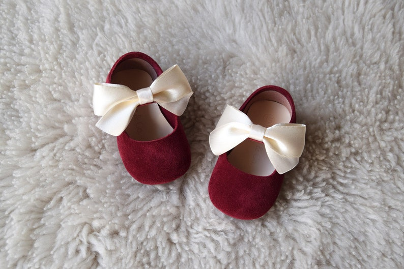 Burgundy Baby Girl Shoes Baby Shoes