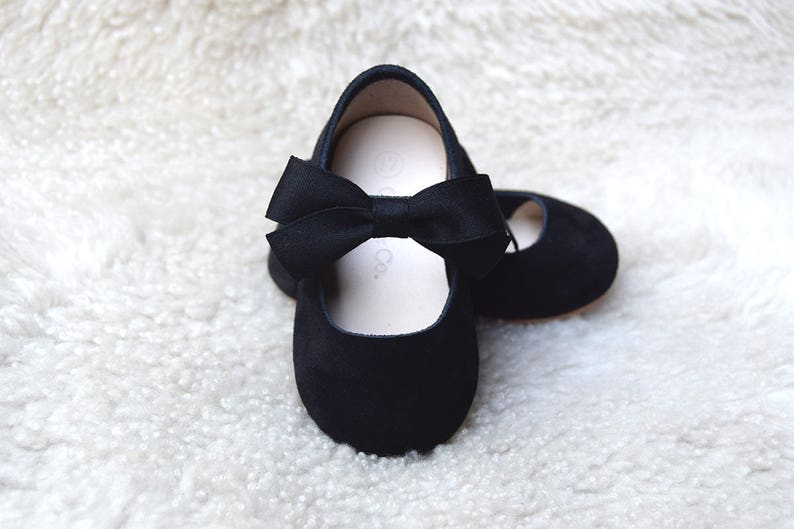 512e5f1fe836 Leather Black Toddler Girl Shoes Baby Girl Shoes with Black