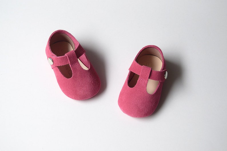 eb182cd64d85c Pink Baby Girl Shoes, Baby Shoes, Hot Pink Baby Girl Mary Jane T Strap,  Baby Moccasins, Newborn Crib Shoes, Baby Shower Gift, Infant Booties