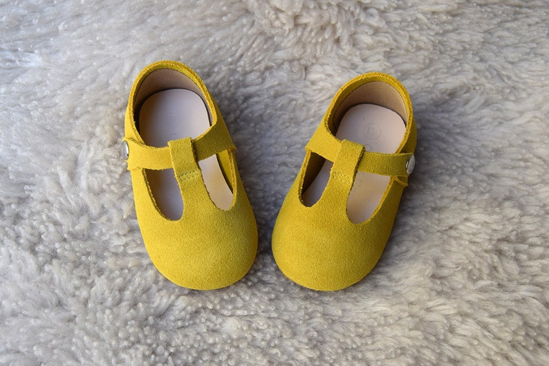 e0ff6382e6dda Mustard Yellow Toddler Girl Shoes, Baby Girl Shoes, Yellow Baby Shoes,  Toddler Shoes, Gift For Girls, T Strap Mary Jane, Leather Baby Shoes