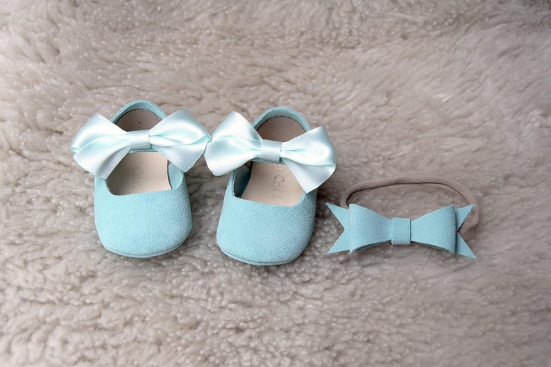 e9aceac155c Baby Girl Shoes in size 2 US Light Blue Baby Moccasins