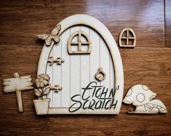 Wooden Fairy Door Kit