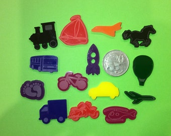 Transport Silhouette findings for I-Spy bags, Laser Cut Acrylic shapes