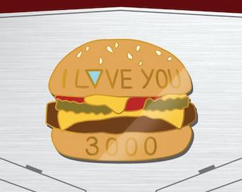 I LOVE YOU 3000 Enamel Pin