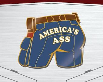 America's Ass Enamel Pin