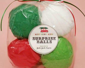 stocking stuffer - surprise ball - christmas games - christmas party favors - fun stocking stuffer - stocking stuffers for men - 4 pack