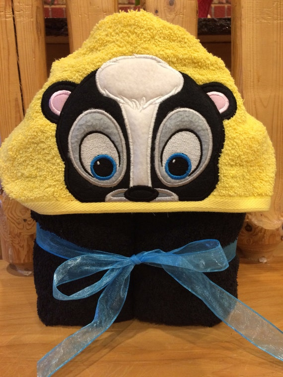 I am a Cute Lil Stinker Skunk Hooded Towel