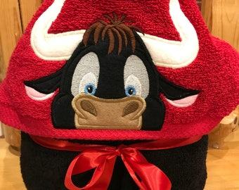 Ferdinand look a like hooded towel