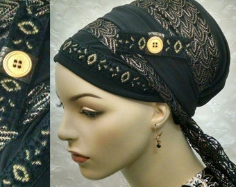Golden beauty sinar tichel, head scarf, hair snood, Jewish hair covering, head wrap, head covering, alopecia, weddings, lace, hair scarf