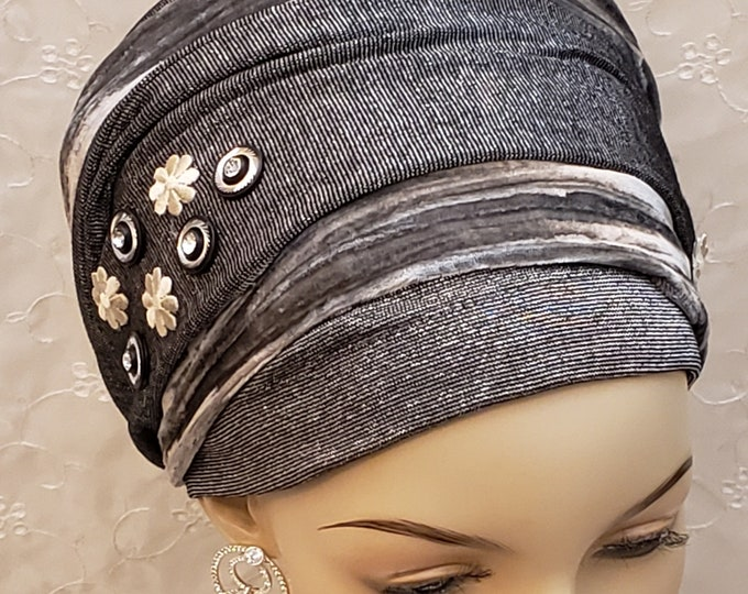 Featured listing image: Chic sparkling sinar tichel, Jewish hair covering, accessories, hair accessories, head scarf, head wrap, hair scarf, gift for women, holiday