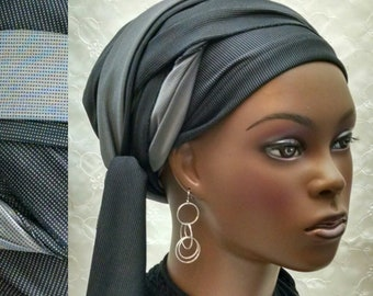 Shades of grey wrap-twice sinar tichel, head wrap, hair snood, head scarf, Jewish hair covering, head covering, hair scarf, alopecia, chemo