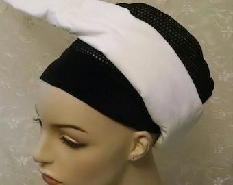 Volumizer strip in white, scarf volumizing strip, added volume, extra volume, tichel volumizer strip
