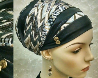 Stunning stylish sinar tichel, head scarf, Jewish hair covering, head wrap, hair snood, apron head scarf