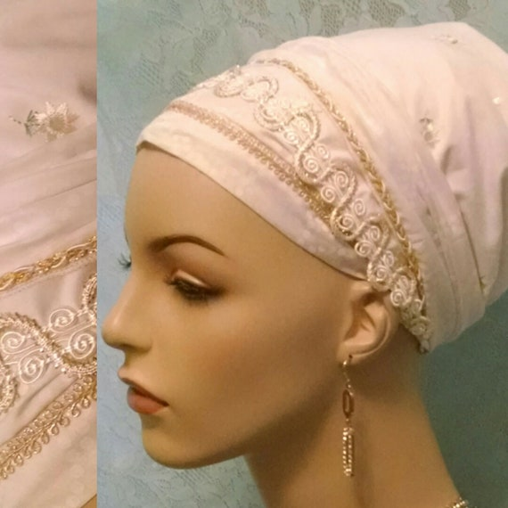 Lightweight Shabbos cotton sinar tichel, tichels, head wrap, head scarf, Jewish hair covering, hair snood