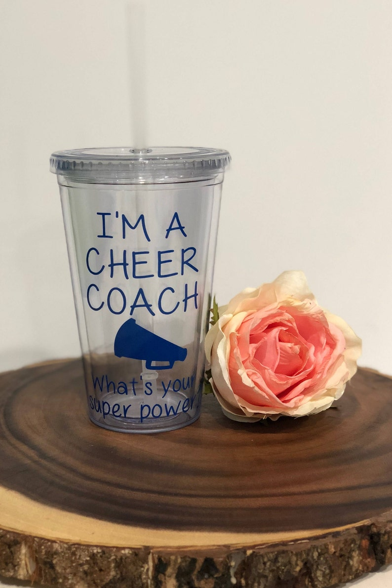 Gift For Cheerleading Coach Cheerleading Coach Gift Personalized Gift Water Tumbler Christmas Gift Birthday Gift Unique Gift Idea