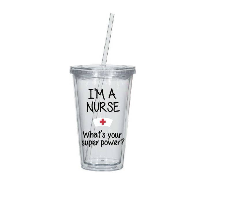 Gift For Nurse Superpower Water Tumbler