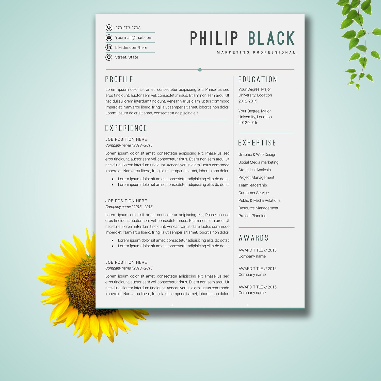 reanudar la plantilla word plantilla cv carta papel carta