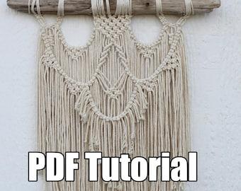 Macrame Tutorial - PDF  Macrame Wall Hanging Tutorial Pattern Download