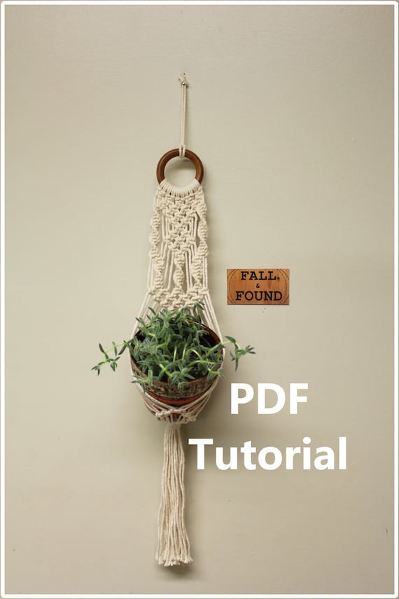 Basic Macrame Plant Hanger Diy