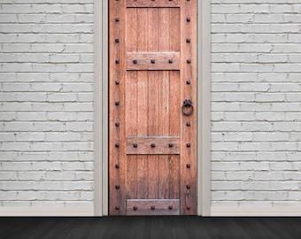 Self Adhesive Door Wrap Sticker - Old Strong Wooden Door - Peel and Stick 3D Effect Door Wrap - HD Removable Vinyl Wallpaper & Medieval door | Etsy