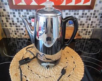 SUNBEAM Percolator 10 Cups  / VINTAGE Electric Coffee Maker Model A P 20