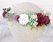 Bridal Flower Crown, Wedding hair accessories, Flower Girl - 1st Communion, Flower crown with succulent,