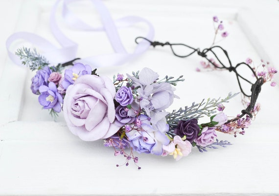 The Purple and Blue Flora Crown