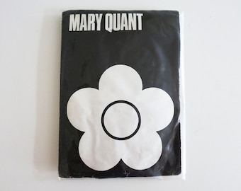 Black Vintage Mary Quant Stockings white with elastic top