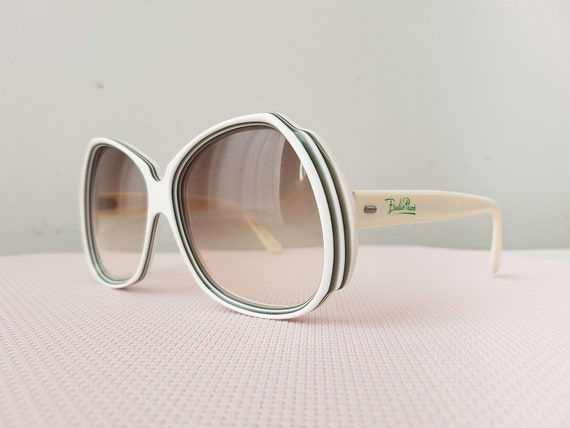 Original 1970s Pucci sunglasses, white with black