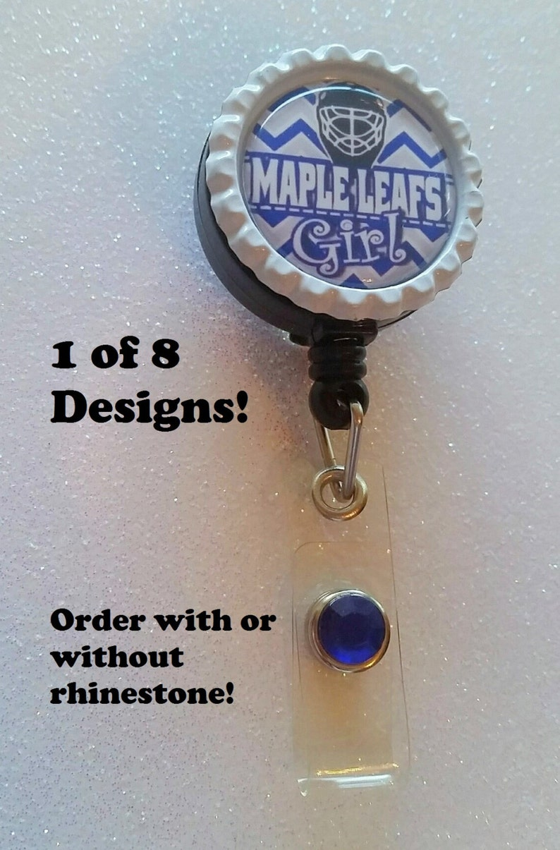 Maple Leafs inspired ID Badge Retractable ID Badge ID Badge Badge Badge Holder Badge Reel