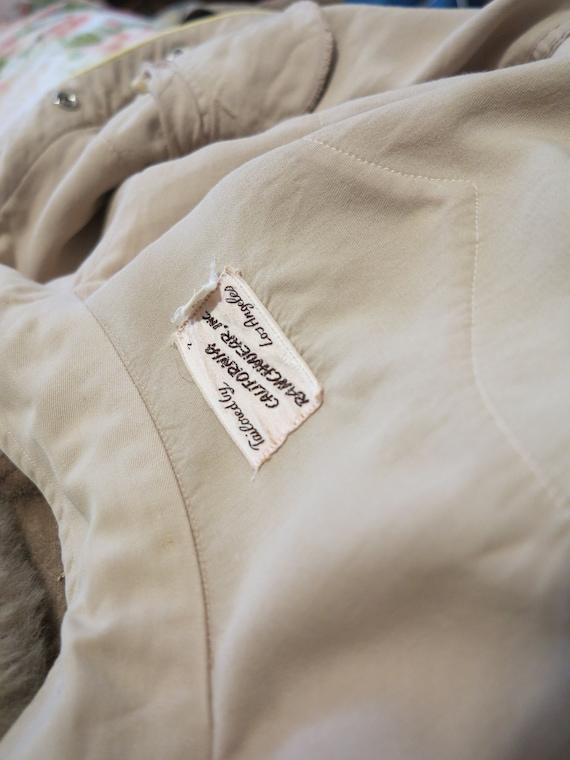Vintage 40's California Ranchwear Brown + Yellow … - image 9