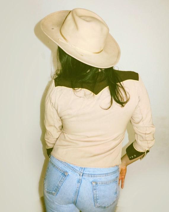 Vintage 40's California Ranchwear Brown + Yellow … - image 4