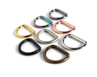 for Model Horse Tack SILVER D-RINGS DEE RINGS 1//4 inch inside 3//8 inch outside