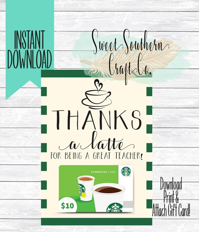photo about Thanks a Latte Christmas Printable known as Thank On your own Playing cards