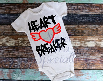 Heart Breaker Boys Valentines Day Shirt, Baby and Youth Sizes.,Sweet Southern Craft Co,Sweet Southern Craft
