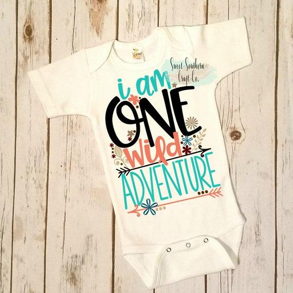 1e3ed1f1 I am ONE Wild Adventure 1st Birthday Bodysuit First | Etsy